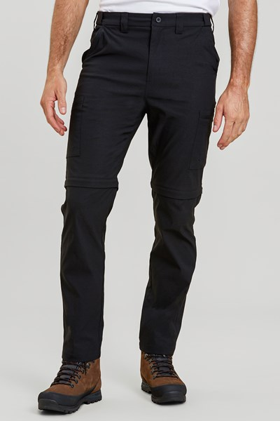 Trek Stretch Convertible Mens Trousers - Black