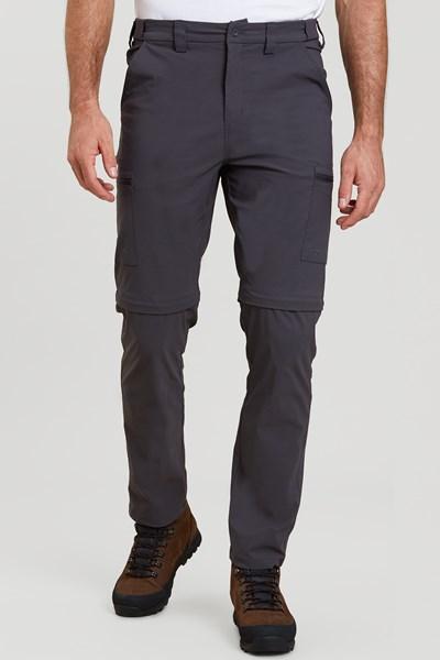 Trek Stretch Convertible Mens Trousers - Grey
