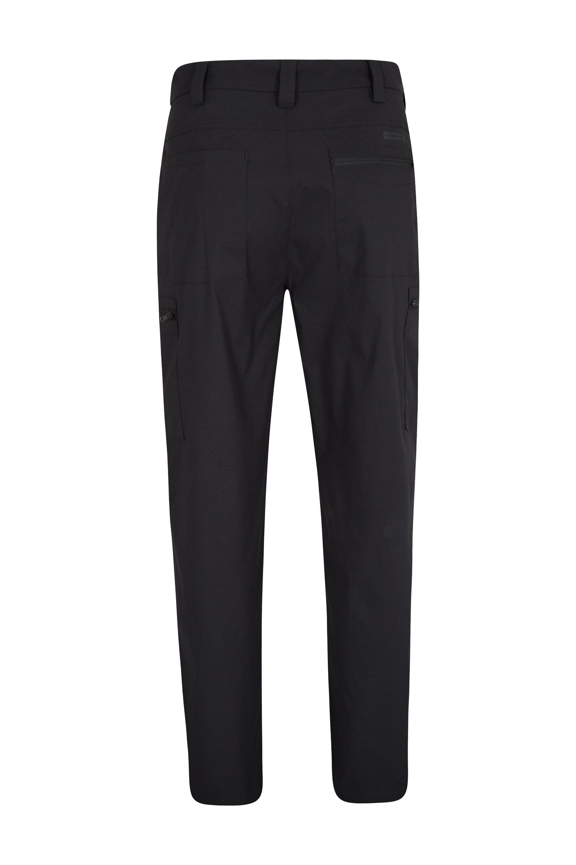 Trek Stretch Mens Trousers - Short length - Black