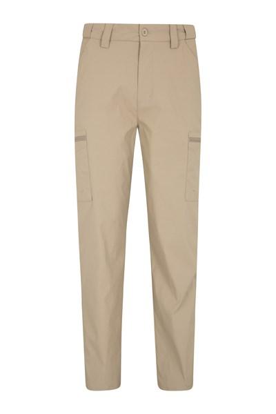 Trek Stretch Mens Trousers - Short length - Beige