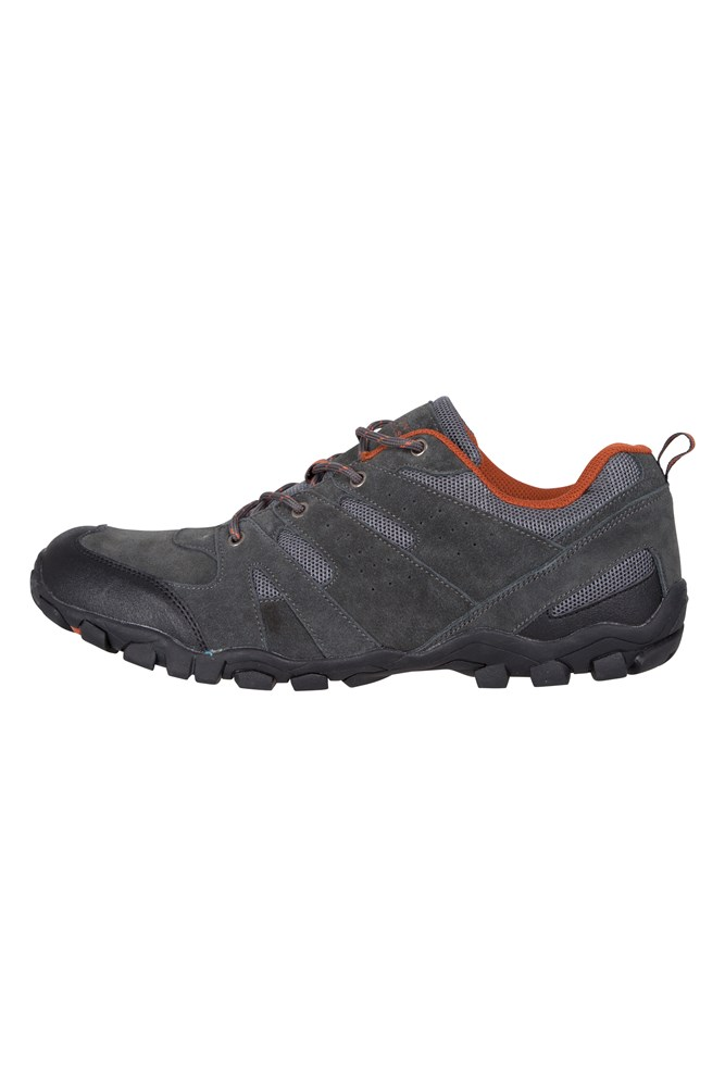 Cushioned Footbed Mesh Upper /& Lining with 100/% Rubber Sole Mountain Warehouse Outdoor Men/'s Walking Shoes Great for Layering Suede