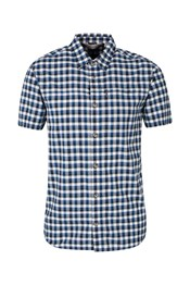 Lambay Checked Mens Short Sleeved Shirt