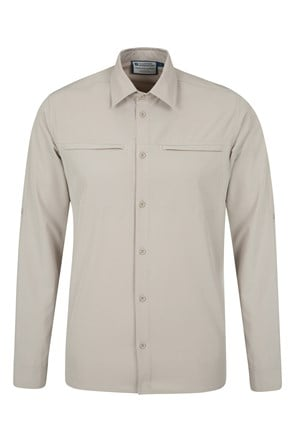 Travelling Stretch Anti-mosquito Convertible Mens Shirt