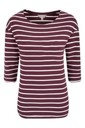 Salcombe Stripe ¾ Sleeve Womens Top
