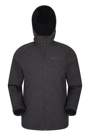 Exodus Printed Mens Showerproof Softshell