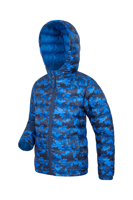 Mountain Warehouse Printed Seasons Boys Padded Jacket Lightweight Microfiber