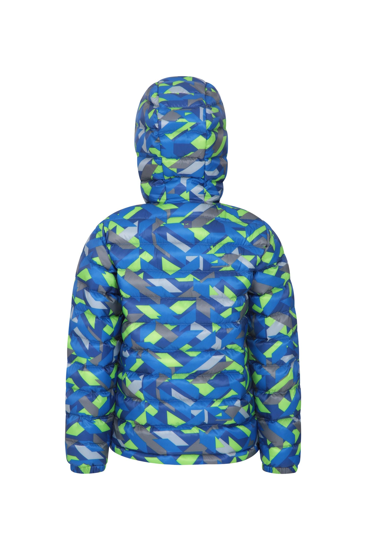 Mountain Warehouse Tidal Kinderjacke Trenchcoat mit Klettverschluss an Kapuze und Bündchen Für Reisen Camping Ripstop-Sommerjacke Wasserbeständig