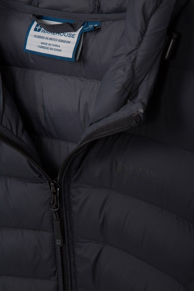 Mountain Warehouse Florence Extra Long Padded Jacket w// Two Front Zipped Pockets