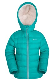Snowflake Girls Sherpa Lined Jacket