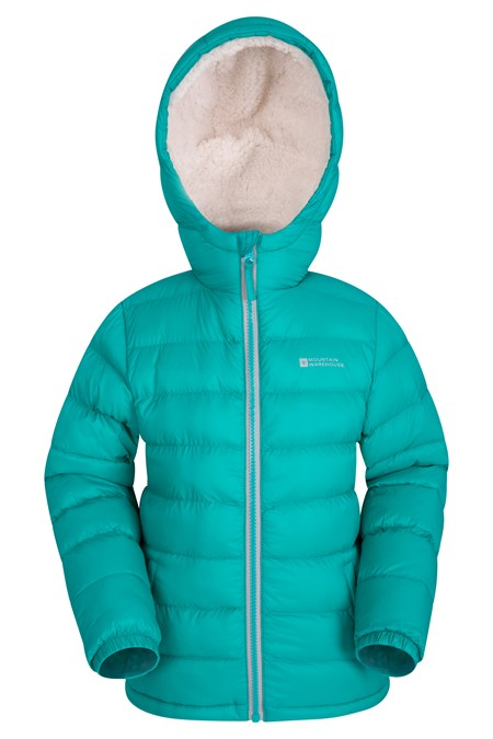 Snowflake Girls Sherpa Lined Jacket | Mountain Warehouse EU