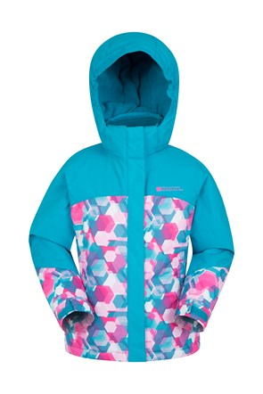 Aerial Printed Kids Ski Jacket