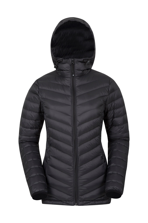 Women's frost hooded down jacket