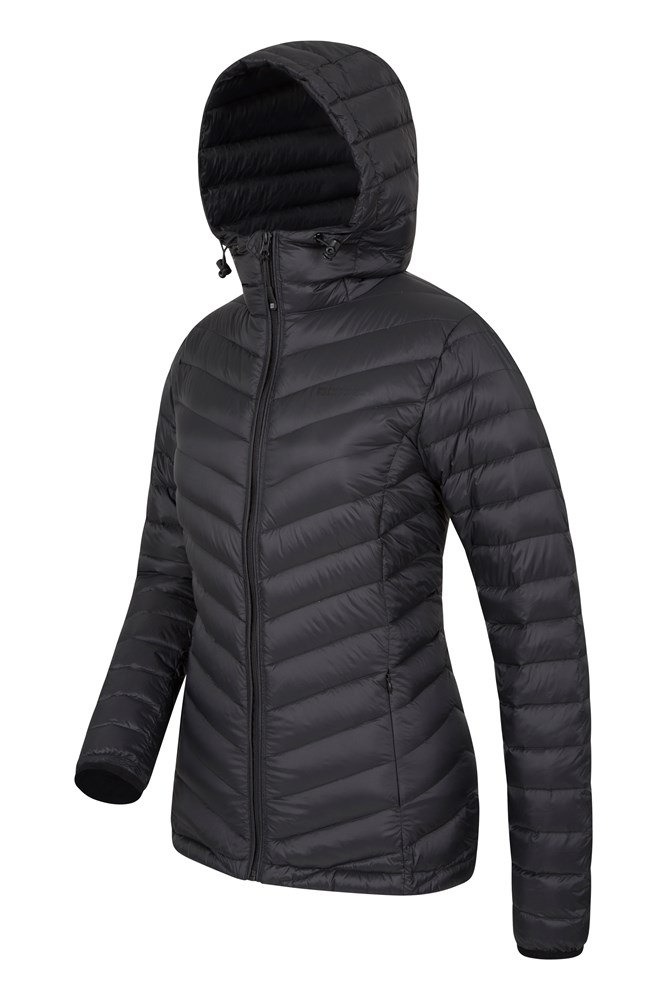 Featherweight Down Womens Hooded Jacket | Mountain Warehouse GB