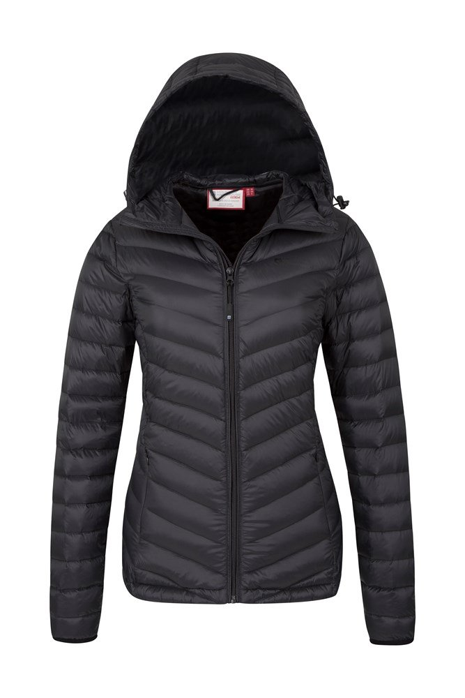 db69b730c8307 Featherweight Down Womens Hooded Jacket | Mountain Warehouse CA
