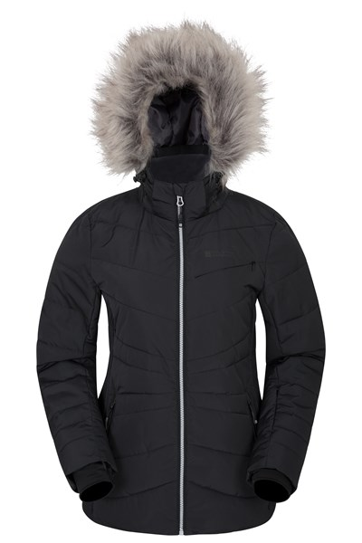 Arctic Air Womens Padded Ski Jacket - Grey
