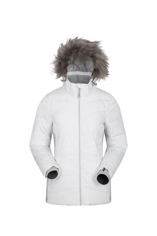 Arctic Air Womens Padded Ski Jacket - White