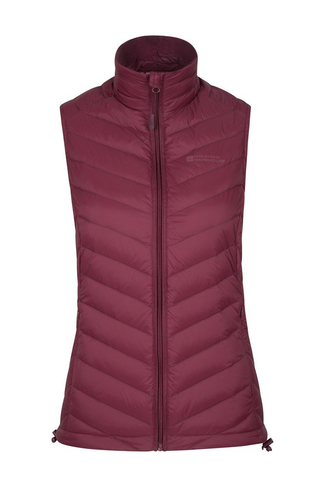 b1d6ccfe76f Featherweight Down Womens Gilet | Mountain Warehouse GB