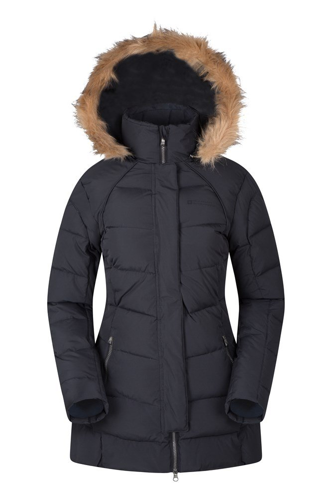 Featherweight Down Womens Hooded Jacket | Mountain Warehouse CA