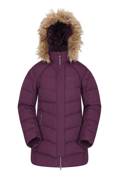 Isla II Womens Down Jacket - Purple