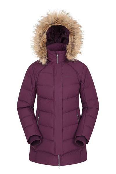 Isla II Womens Down Jacket - Purple
