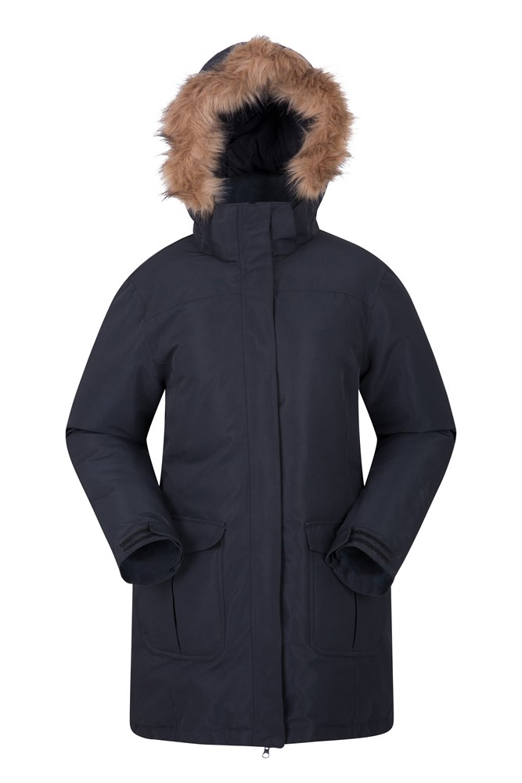 Tarka Womens Long Padded Jacket - Black
