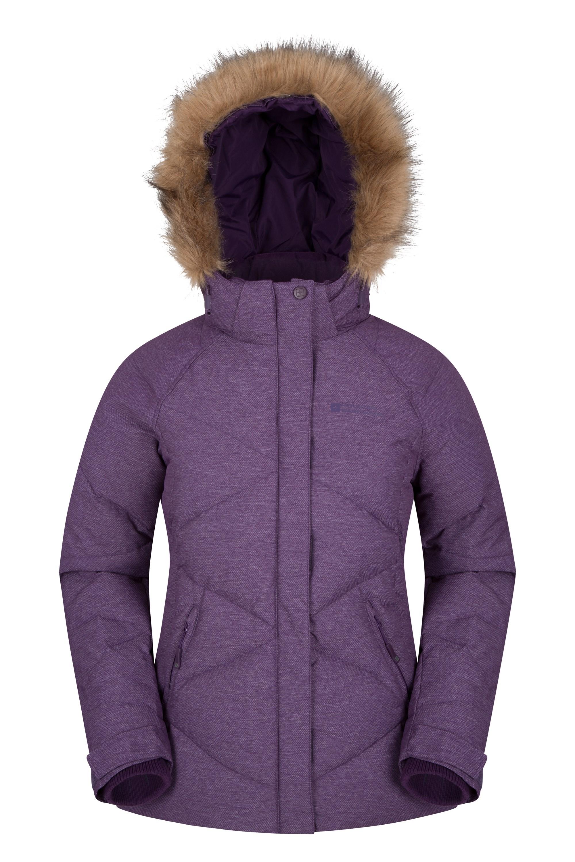 Frost Free Womens Down Padded Jacket - Purple