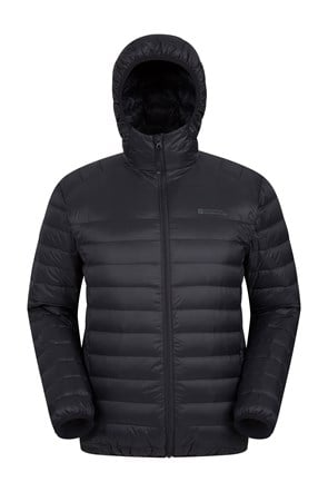 Featherweight Mens Hooded Down Jacket