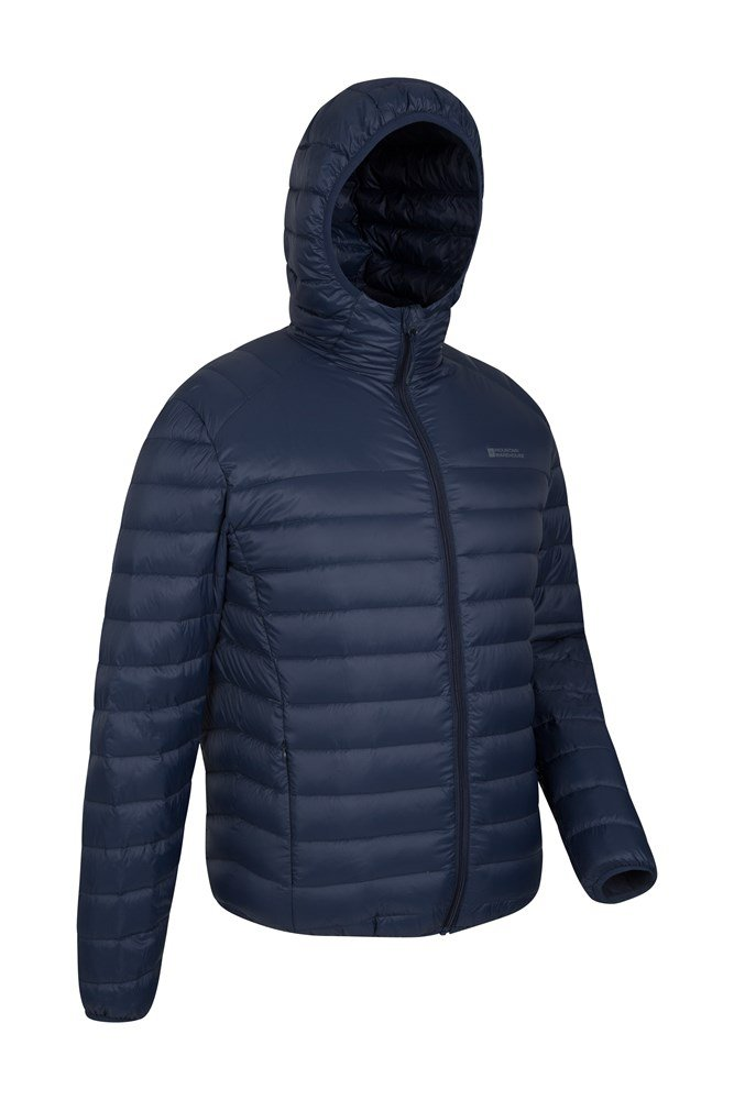 Featherweight Mens Hooded Down Jacket | Mountain Warehouse GB