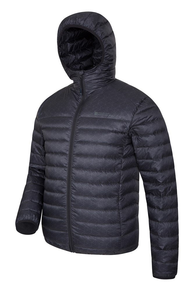 cc46812dc95 Featherweight Printed Mens Down Jacket | Mountain Warehouse CA