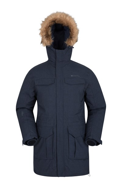 Sub Zero Mens Down Padded Jacket - Navy