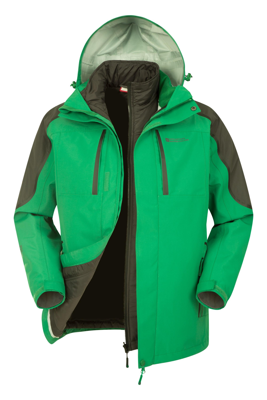 Mens long 3 in 1 jacket