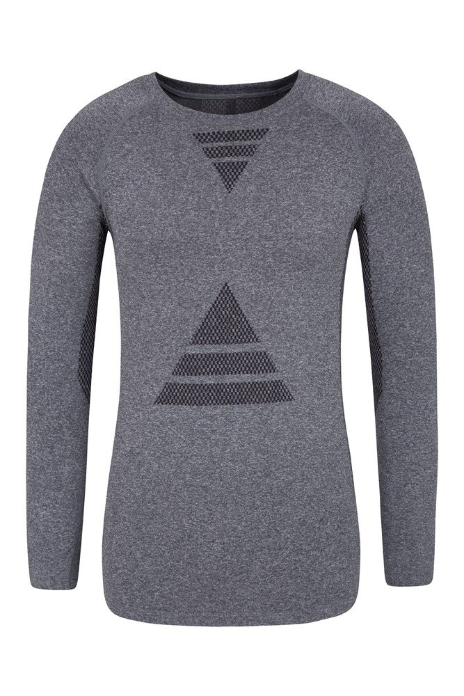 Roll Neck Jumper Mountain Warehouse Meribel Mens Thermal Baselayer Top Combed Cotton Sweater Breathable for Everyday Winter Use Quick Drying /& Fitted Sleeves