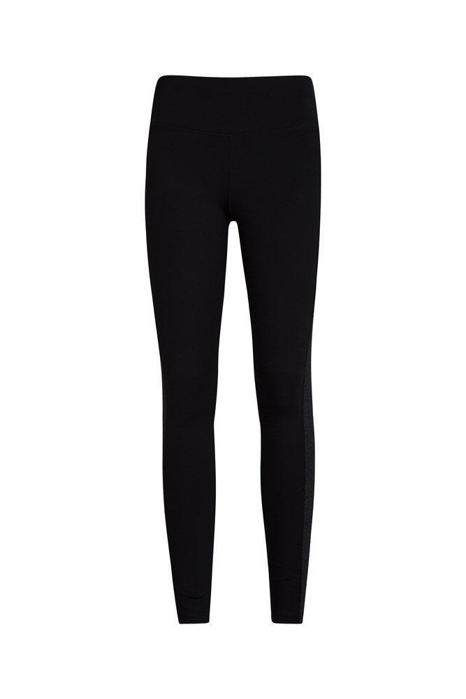 Reflective Panelled Womens Leggings - Black