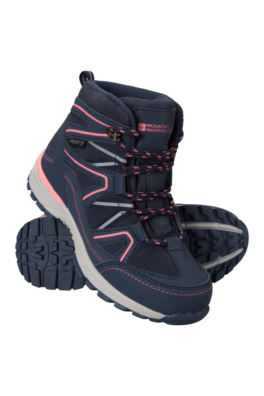 Steve Backshall Stride Waterproof Kids Walking Boots - Pink