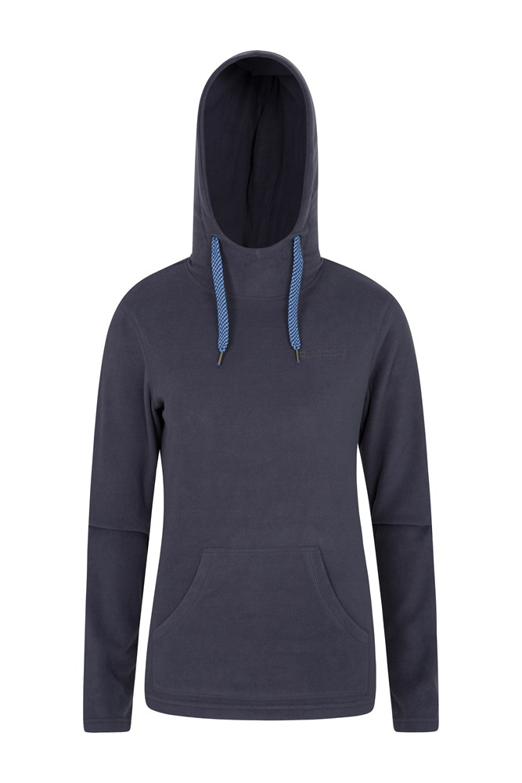 Heather Womens Hooded Fleece - Navy