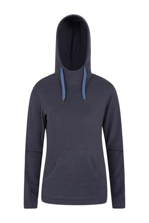 Heather Damen Fleece-Kapuzenpullover