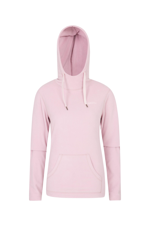 Heather Womens Hooded Fleece - Pink