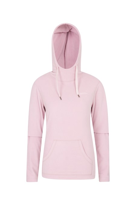 025439 HEATHER WOMENS HOODED FLEECE