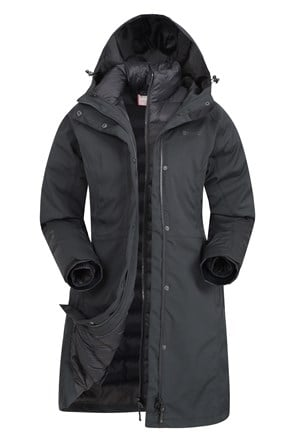 Alaskan Womens Long 3 in 1 Jacket