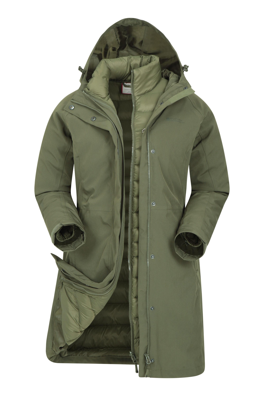 Alaskan - damska kurtka 3 w 1 - Green
