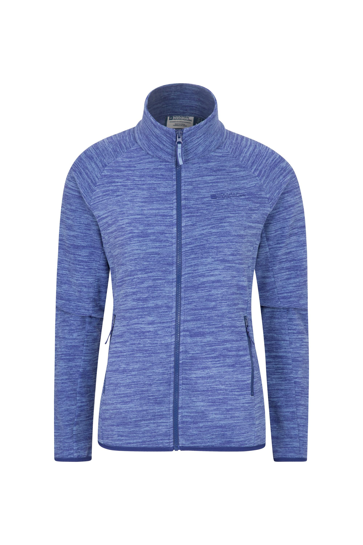 Snowdon Melange Womens Full Zip - Blue