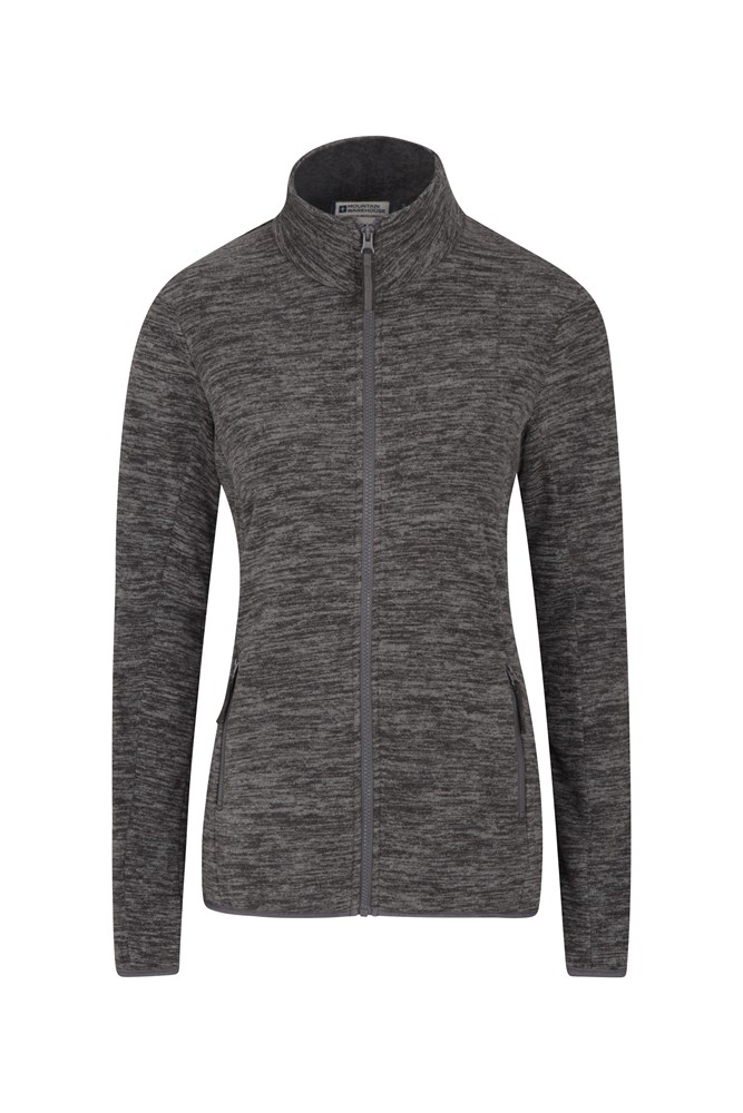Snowdon Melange Womens Full Zip - Grey