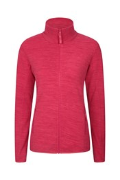Snowdon Melange Womens Full-Zip Fleece