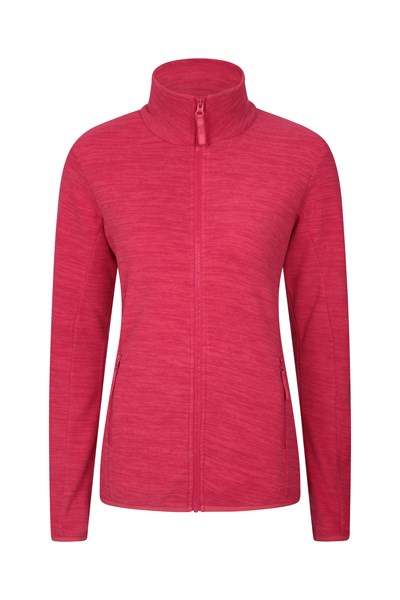 Snowdon Melange Womens Full Zip - Pink