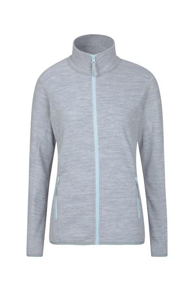 Snowdon Melange Womens Full Zip - Grey