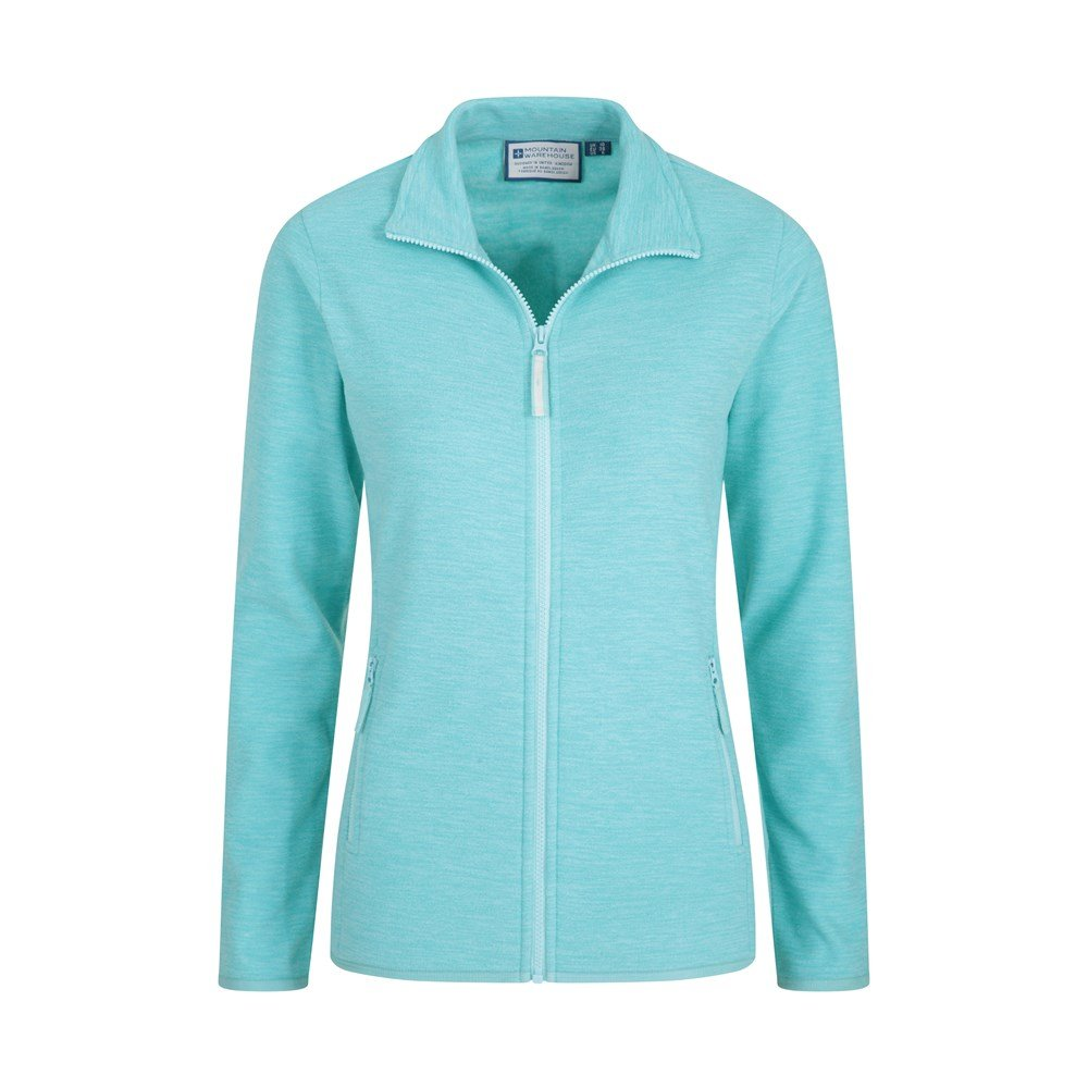 High Wick Antipill Mountain Warehouse Snowdon Melange Full Zip Fleece Jacket Antibacterial Fast Dry Ladies Winter Sweater Breathable Womens Jacket for Travelling Coral 16