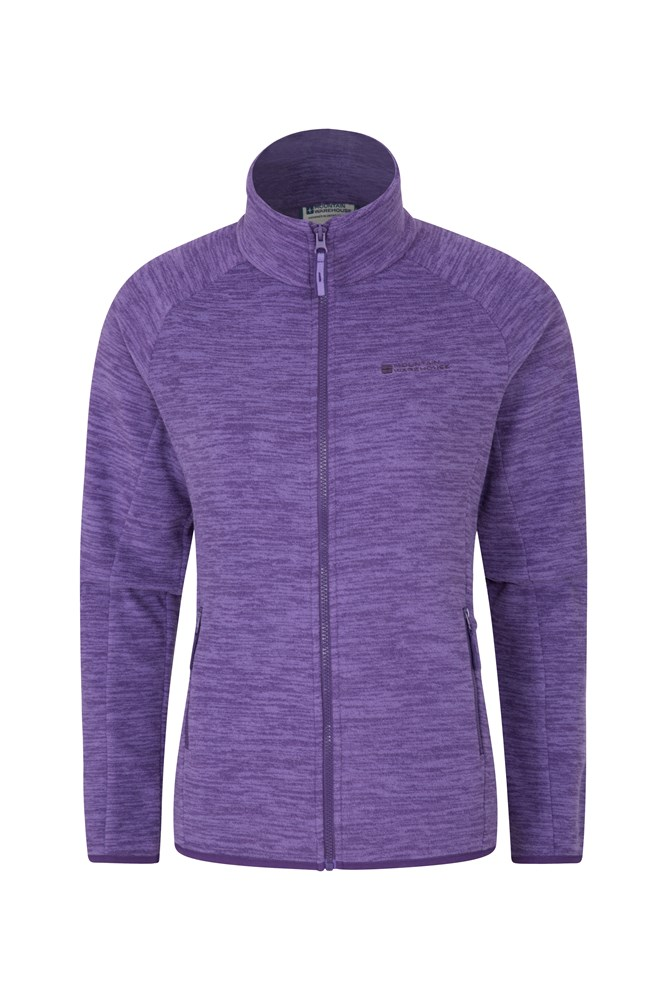Snowdon Melange Womens Full Zip - Purple
