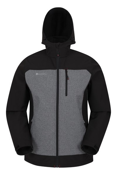Illuminate Reflective Mens Softshell Jacket - Black