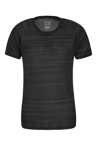 Endurance Striped Mens T-Shirt - Green