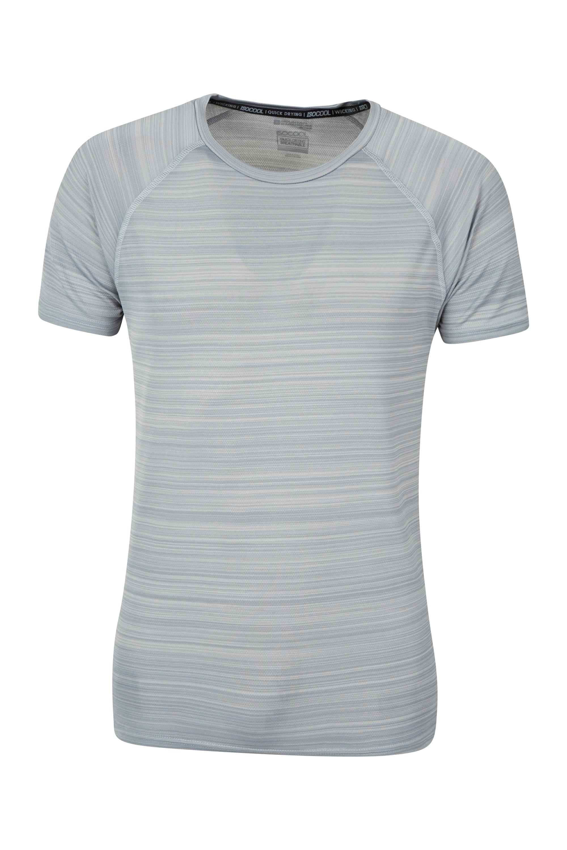 Endurance Striped Mens T-Shirt - Grey